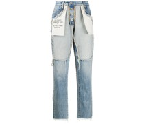 Boyfriend-Jeans im Distressed-Look