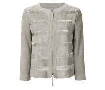 Jacke mit semi-transparenten Streifen
