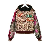 floral baroque hooded jacket