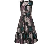 Jacquard-Kleid mit floralem Muster