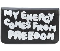 Portemonnaie mit Slogan-Print