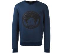 - embroidered Medusa sweatshirt - men - Baumwolle