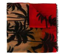 Intarsienschal mit Palmenmotiv