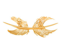 feather cast brooch