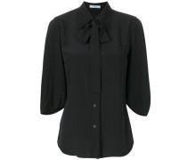 Krepp-Bluse mit Schleife