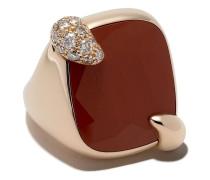 18kt 'Ritratto' Rotgoldanhänger mit Diamant