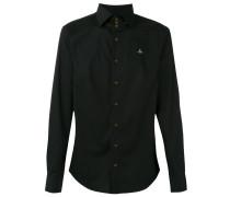 Hemd mit Stehkragen - men - Baumwolle/Elastan