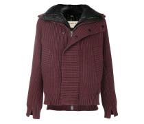 layered knit padded jacket