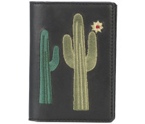 embroidered cactus note wallet