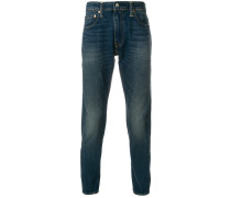 faded effect jeans