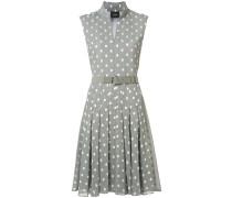 Ausgestelltes Kleid mit Quadrat-Print