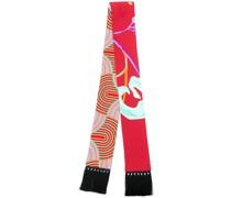 skinny printed scarf