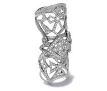 14kt Weißgoldring mit Diamanten