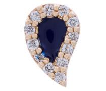 14kt 'Tear Drop' Goldohrstecker mit Diamanten