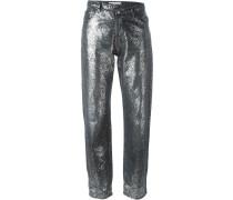 Jeans mit Glitzer-Finish
