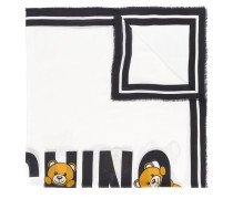teddy logo print scarf