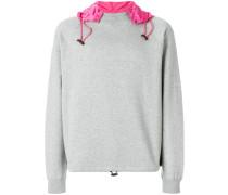 contrast hood sweatshirt