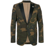 camouflage fitted blazer