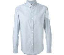 Button-down-Hemd mit Logo-Patch
