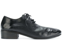 ruched lace-up shoes