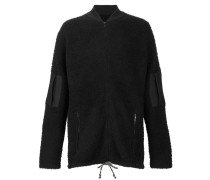 sherpa zip-up jacket