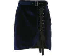 lace-up velvet skirt