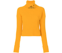roll neck embellished jumper
