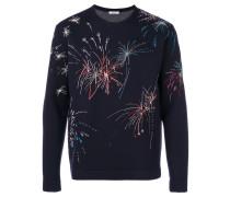 Sweatshirt mit Feuerwerks-Print