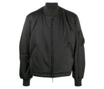 padded logo bomber jacket