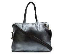 Große Handtasche mit Metallic-Effekt