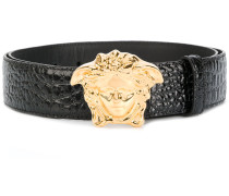 crocodile-embossed Medusa belt