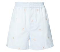 "Jacquard-Shorts mit ""Beach Babes""-Print"