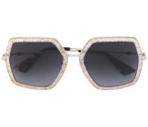 Oversized-Sonnenbrille mit Glitzer-Applikationen