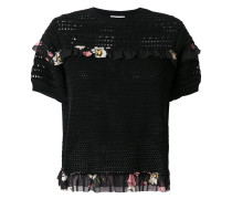 floral frill knit top
