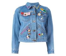 - Cropped-Jeansjacke mit Verzierung - women