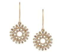14kt 'Rising Sun' Gelbgoldohrringe mit Diamanten