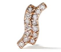 14kt 'Wave' Gelbgoldohrstecker mit Diamanten