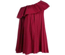 Schulterfreies Kleid mit Vichy-Karo