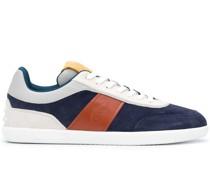 low-top logo embossed sneakers
