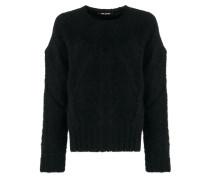 oversized textured sweater