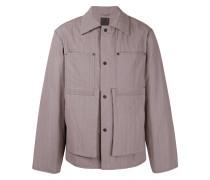 buttoned light-weight jacket