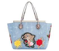 flower tiger patch tote