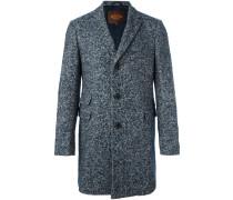 Tweed-Mantel mit Fischgrätenmuster