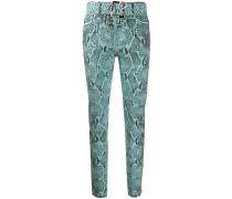 Jeans mit Schlangenleder-Optik