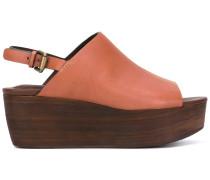 Flatform-Sandalen mit Slingback-Riemen - women
