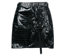 laced front mini skirt