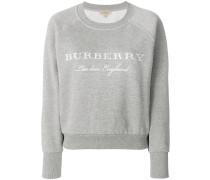 embroidered logo sweatshirt
