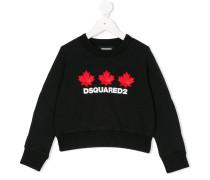 Sweatshirt mit Ahornblatt-Patches