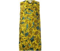 Brokat-Kleid mit Blattmuster