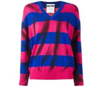 Pullover mit Tromp-L'œil-Print